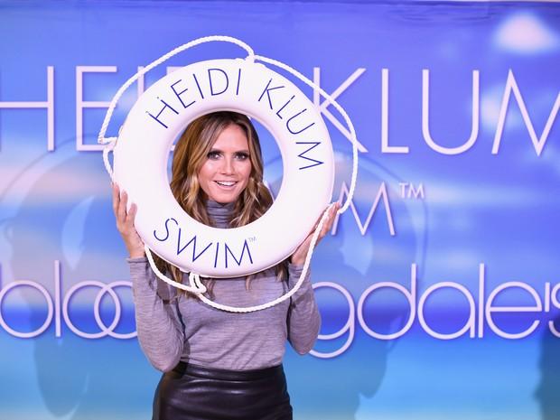 Heidi Klum em evento de moda em Nova York, nos Estados Unidos (Foto: Dimitrios Kambouris/ Getty Images/ AFP)