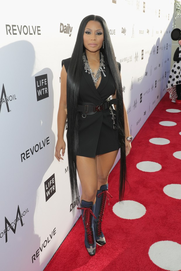 Nicki Minaj no Los Angeles Fashion Awards (Foto: AFP)