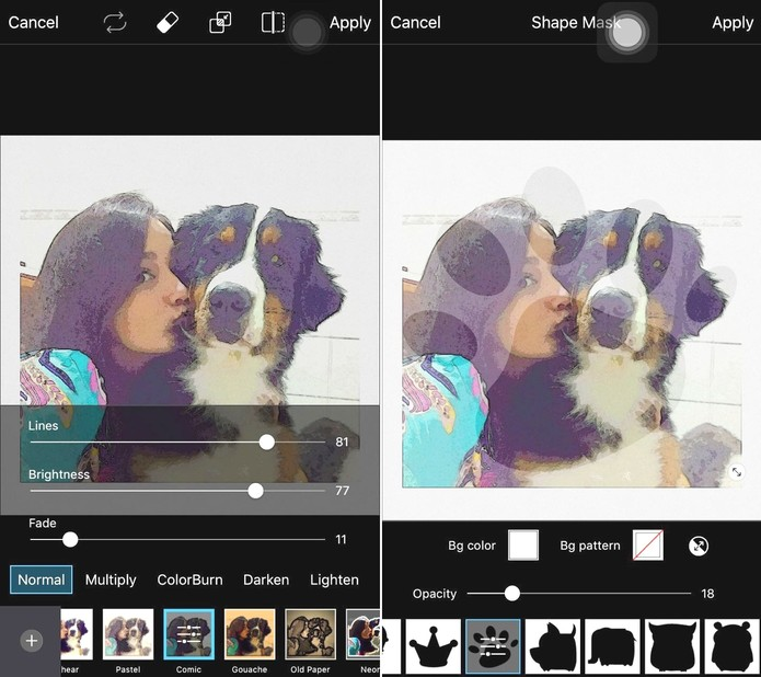 PicsArt permite incluir diversos itens na foto, além dos filtros (Foto:Reprodução)