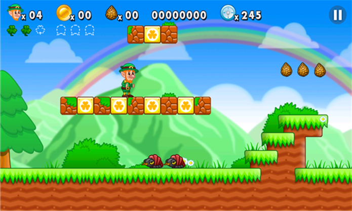 Leps World é um game de aventura bastante parecido com Super Mario World (Foto: Divulgação/Windows Phone Store)