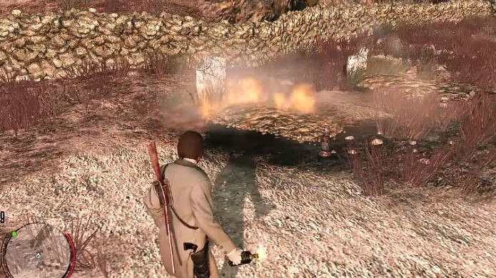 Red Dead Redemption tem uma tumba oculta neste ponto exato (Foto: Reprodução/YouTube)