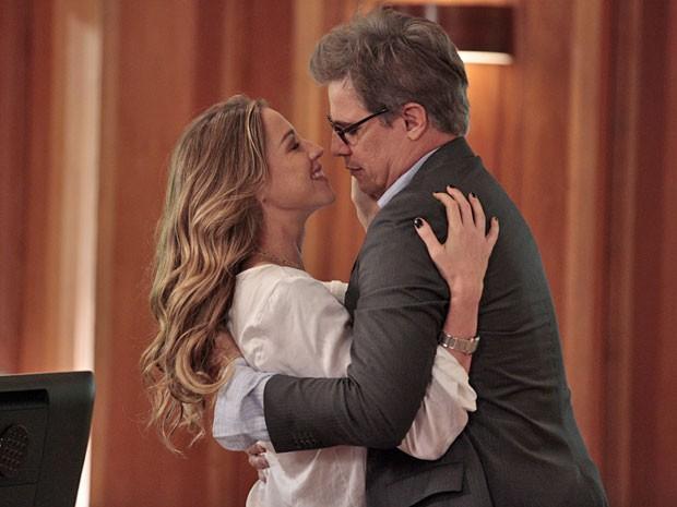 Luana Piovani e Edson Celulari já começaram a gravar as cenas de Vânia e Felipe (Foto: Guerra dos Sexos/ TV Globo)