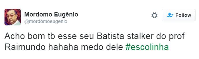 Internautas se assustam com veneração de Seu Batista com Professor Raimundo (Foto: Reprodução)