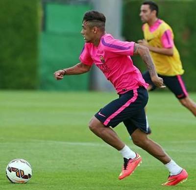 Neymar barcelona treino (Foto: Reprodução / Facebook)