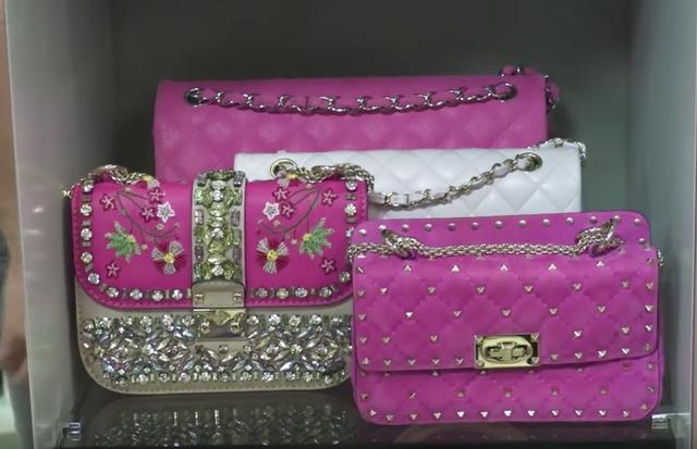 As bolsas de Lalá Rudge (Foto: reprodução/youtube)