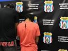 Dupla é presa suspeita de comandar áreas de tráfico de drogas em Manaus