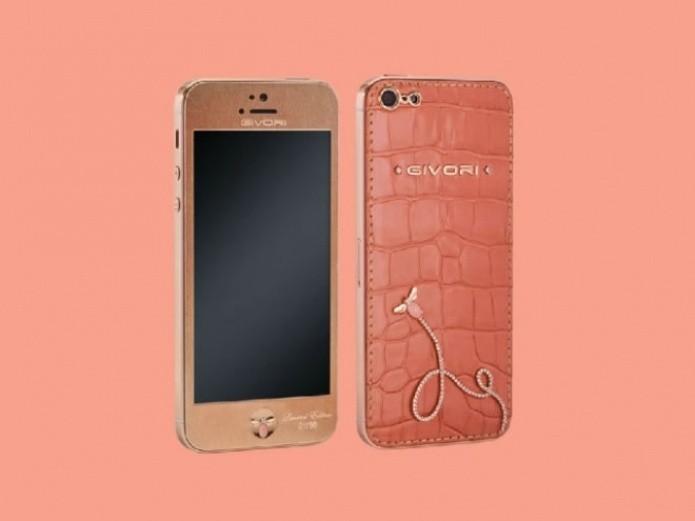 O iPhone 5 Givori' s Charlotte é feito em ouro rosa (Foto: Reprodução/Phone Arena)