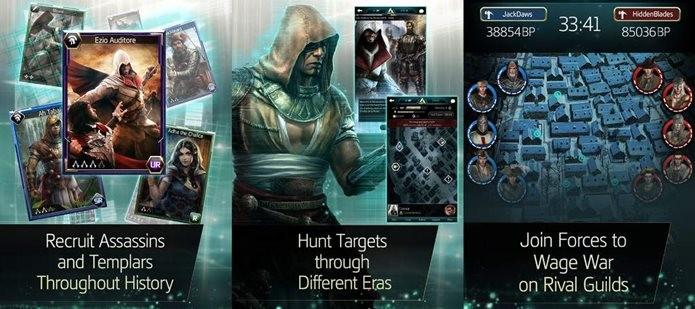 Jogo de cartas com os personagens de Assassins Creed (Foto: Divulgação)