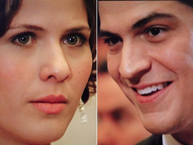 Gerusa e Mundinho se encantam um pelo outro (Foto: Gabriela/TV Globo)