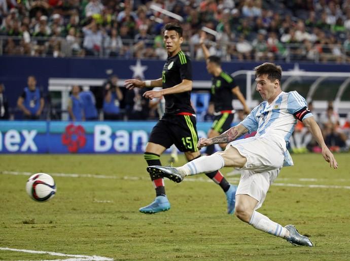 Lionel Messi Argentina 2 x 2 México amistoso - AP (Foto: AP)