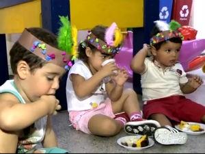 Escolinhas comemoram o Dia do Índio (Foto: Reprodução/TV Gazeta)