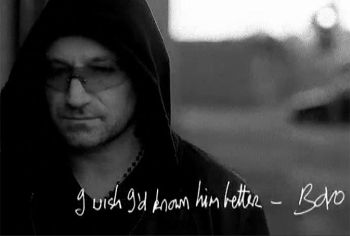 Bono Vox, do U2, também fez uma homenagem ao seu pai, Bob (Foto: Reprodução)