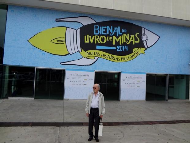 Ithiel de Bastos na Bienal do Livro de Minas, em 2014.  (Foto: Arquivo pessoal/Ithiel de Bastos)