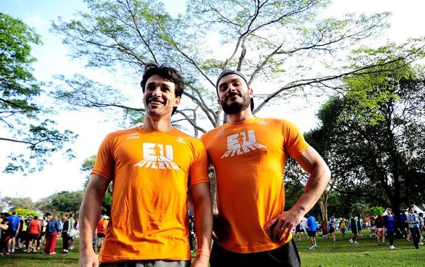 Marcelo Schmidt e Kiko Pissolato maratona de são paulo EU Atleta (Foto: Marcos Ribolli / Globoesporte.com)