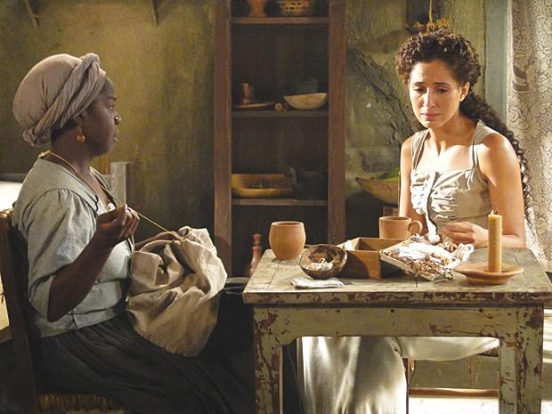 Culpada, Isabel procura Zé Maria, mas não o encontra (Foto: Lado a Lado / TV Globo)