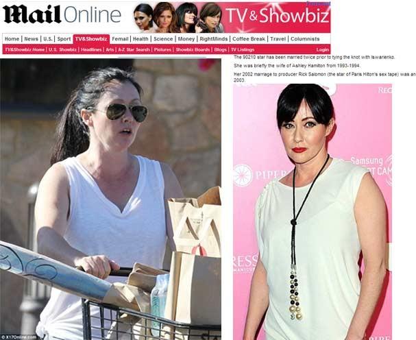 Shannen Doherty sem maquiagem, totalmente descuidada em Malibu (Foto: Daily Mail/Reprodução)