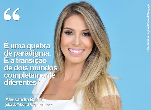 Alessandra Baldini, juíza do Tribunal Regional Federal (Foto: Tribunal Regional Federal/Divulgação)