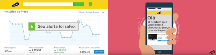 Crie seu alerta personalizado de preços no Buscapé (Foto: Divulgação/Buscapé)
