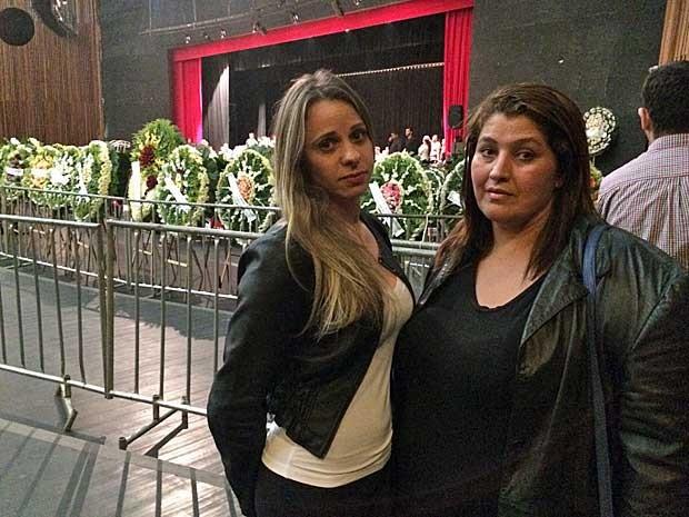 As fãs Angélica Garcia e Monica Guimarães (Foto: Vitor Santana / G1)
