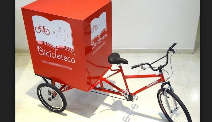 A bicicloteca é uma das boas ideias criadas com a bicicleta (Foto: internet)
