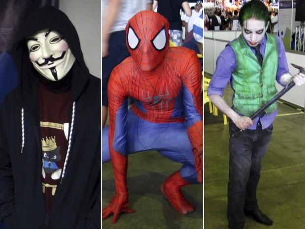 Youtuber famoso e cosplayers se destacaram no primeiro dia da quarta edição do Gamepólitan em Salvador (Foto: Ruan Melo/ G1)