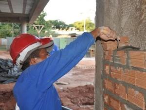 Construção civil Campo Grande MS (Foto: Fernando da Mata/G1 MS)