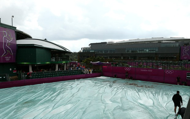 wimbledon chuva tênis londres 2012 olimpiadas (Foto: Getty Images)