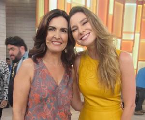 Fátima Bernardes e Lavínia Vlazak (Foto: Monique Arruda/Gshow)