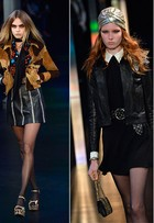 Com Cara Delevingne na passarela, Saint Laurent mostra coleção de verão na semana de moda de Paris