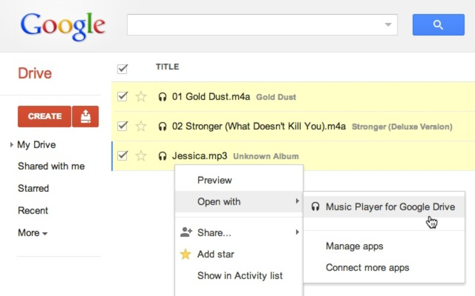 how to download music to google drive from youtube