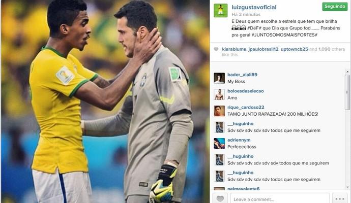 Luis Gustavo enaltece o grupo do Brasil na Copa do Mundo (Foto: Reprodução/Instagram)