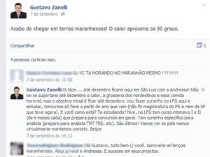 Advogado ironiza clima de São Luís (Foto: Reprodução/Facebook)