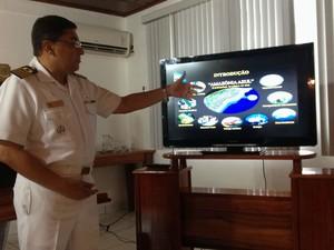 Jackson Sales, comandante do Grupo de Patrulhamento Naval do Norte (Foto: Dyepeson Martins/G1)