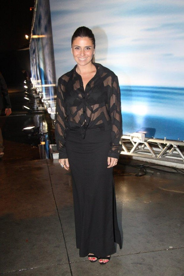 Giovanna Antonelli no Fashion Rio Inverno 2014 (Foto: Felipe Assumpcao / AgNews)