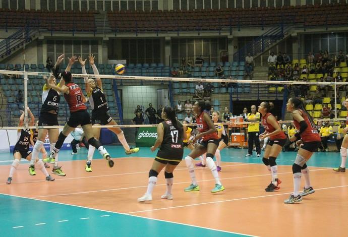 Atletas do SesI-SP não deram chances ao São Bernardo (Foto: SM Press Assessoria Comunicação)