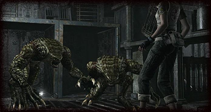 Resident Evil Zero HD Remaster: não economize munição contra os Hunters (Foto: Divulgação/Capcom)