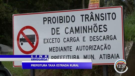 Tráfego de caminhões em estrada em Atibaia é fiscalizado para frear evasão de pedágio na D. Pedro