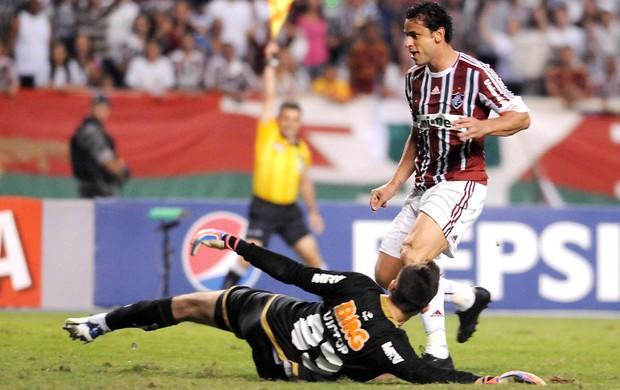 Fred, Fluminense x Atlético-MG, Gol Anulado (Foto: Dhavid Normando / Photocamera)
