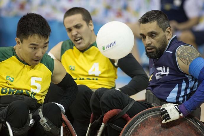 Brasil Argentina rúgbi em cadeira de rodas Parapan (Foto: Fernando Maia/MPIX/CPB)