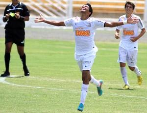 Giva comemora gol do Santos sobre o Audax-SP (Foto: Denny Cesare / Futura Press)