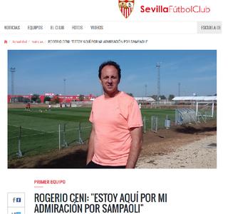 Rogério Ceni São Paulo Sevilla (Foto: Reprodução/www.sevillafc.es)