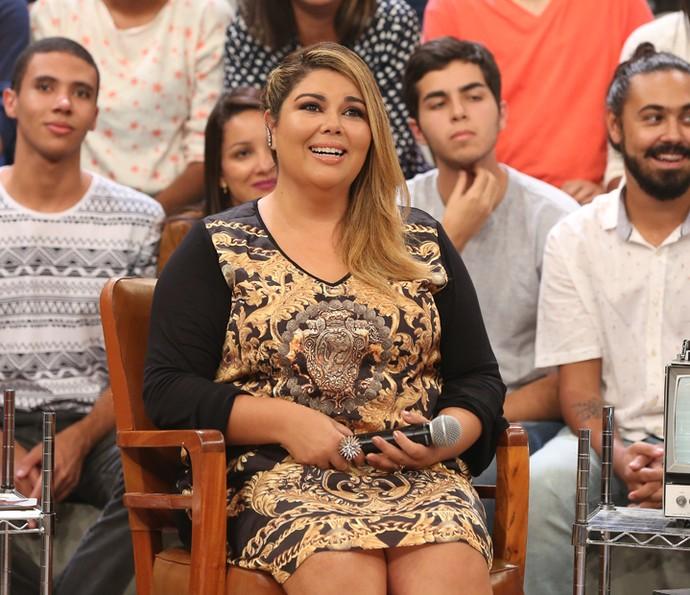 Fabiana Karla participa do programa Altas Horas (Foto: Carol Caminha/Gshow)