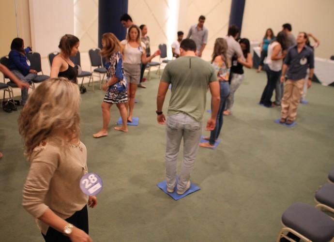 Candidatos se empenham em atividade na Seletiva de Natal (Foto: Gshow)