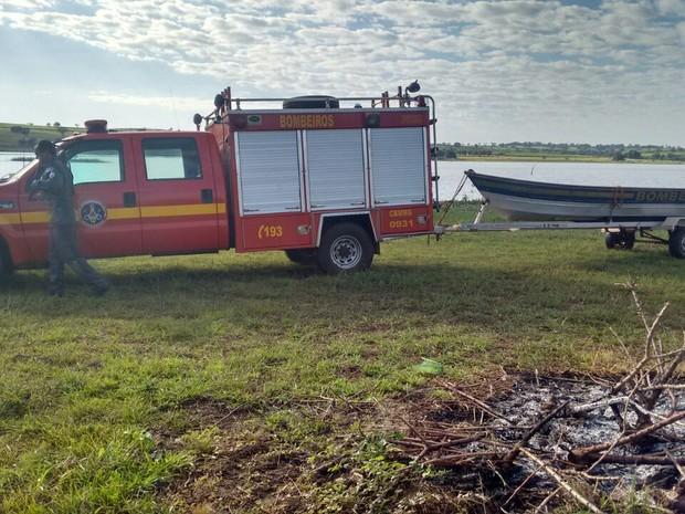 Bombeiros Santa Vitória  (Foto: Corpo de Bombeiros/Divulgação)