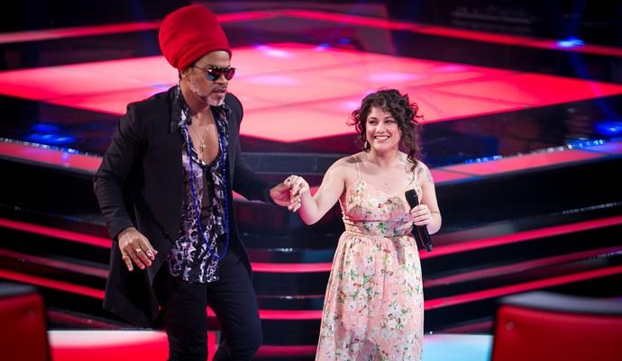 Aretha Lima, do The Voice Brasil, comemora estar no time de Carlinhos Brown (Foto: Isabella Pinheiro/Gshow)