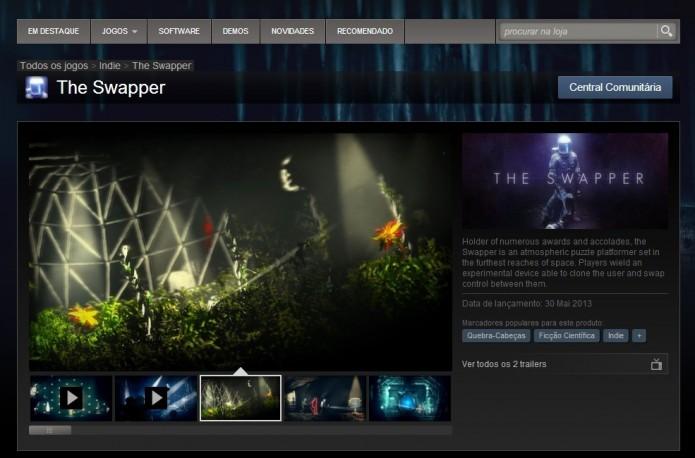 Página de The Swapper no Steam (Foto: Reprodução/Paulo Vasconcellos)