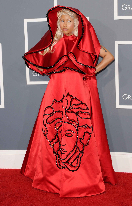 Nicki Minaj brincou de cosplay da rainha Amidala de 'Star Wars: Episódio I - A Ameaça Fantasma' (1999) em 2012. (Foto: Getty Images)