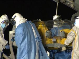 ebola jornal hoje (Foto: Tv Globo)