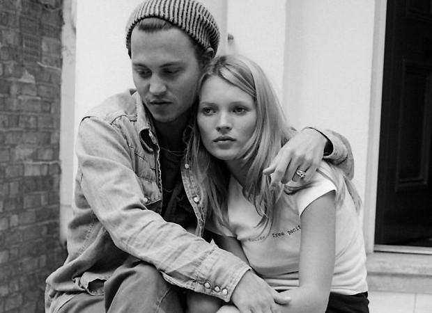 Kate Moss e Johnny Depp (Foto: Reprodução)