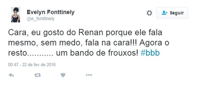 Renan BBB Twitter (Foto: Reprodução/Internet)